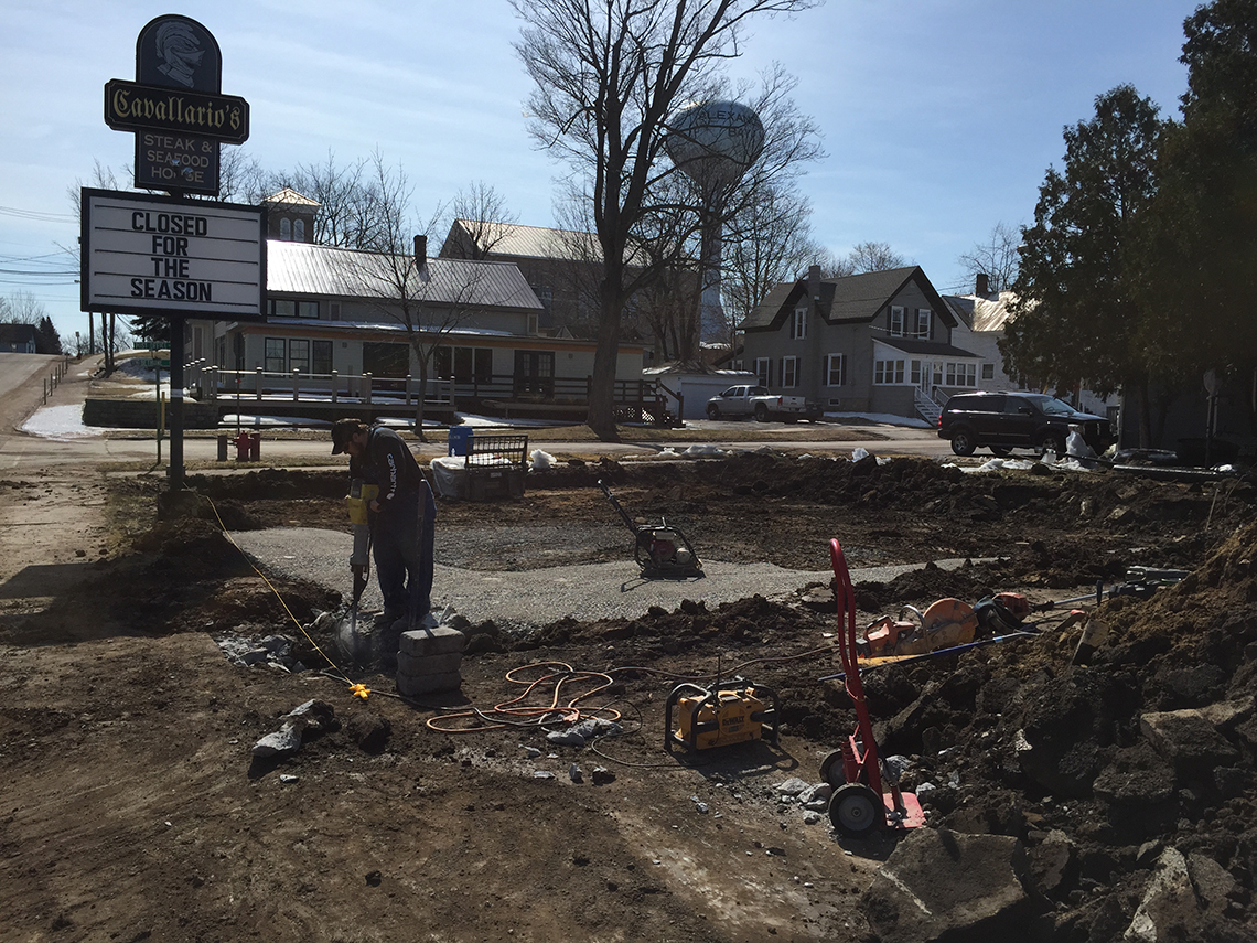 Laying Foundation for Cavallario's New Patio