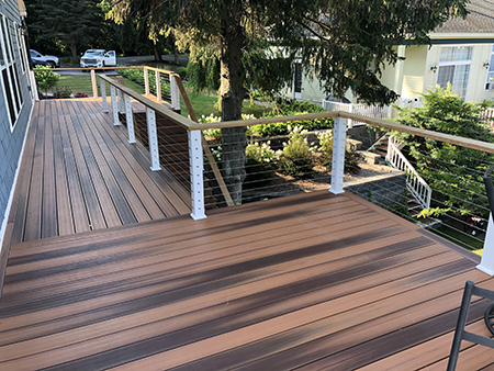 Composite Deck and Cable Railings