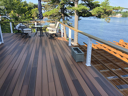 Composite Deck with Cable Railings