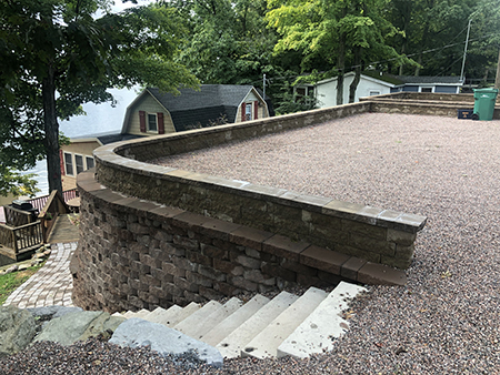 Retaining Walls with Parking Area