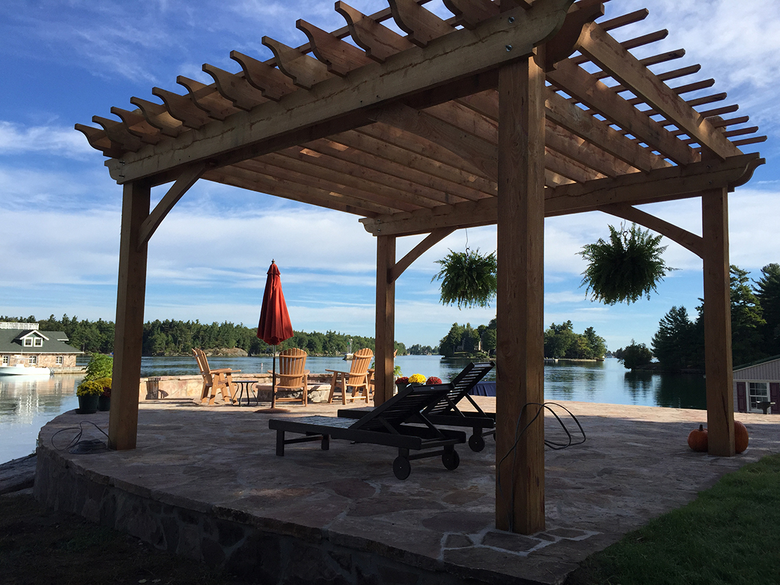 Beautiful View of the Saint Lawrence River From the Newly Completed Flagstone Patio