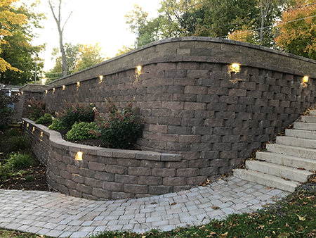 Precast Stairs and Retaining Wall