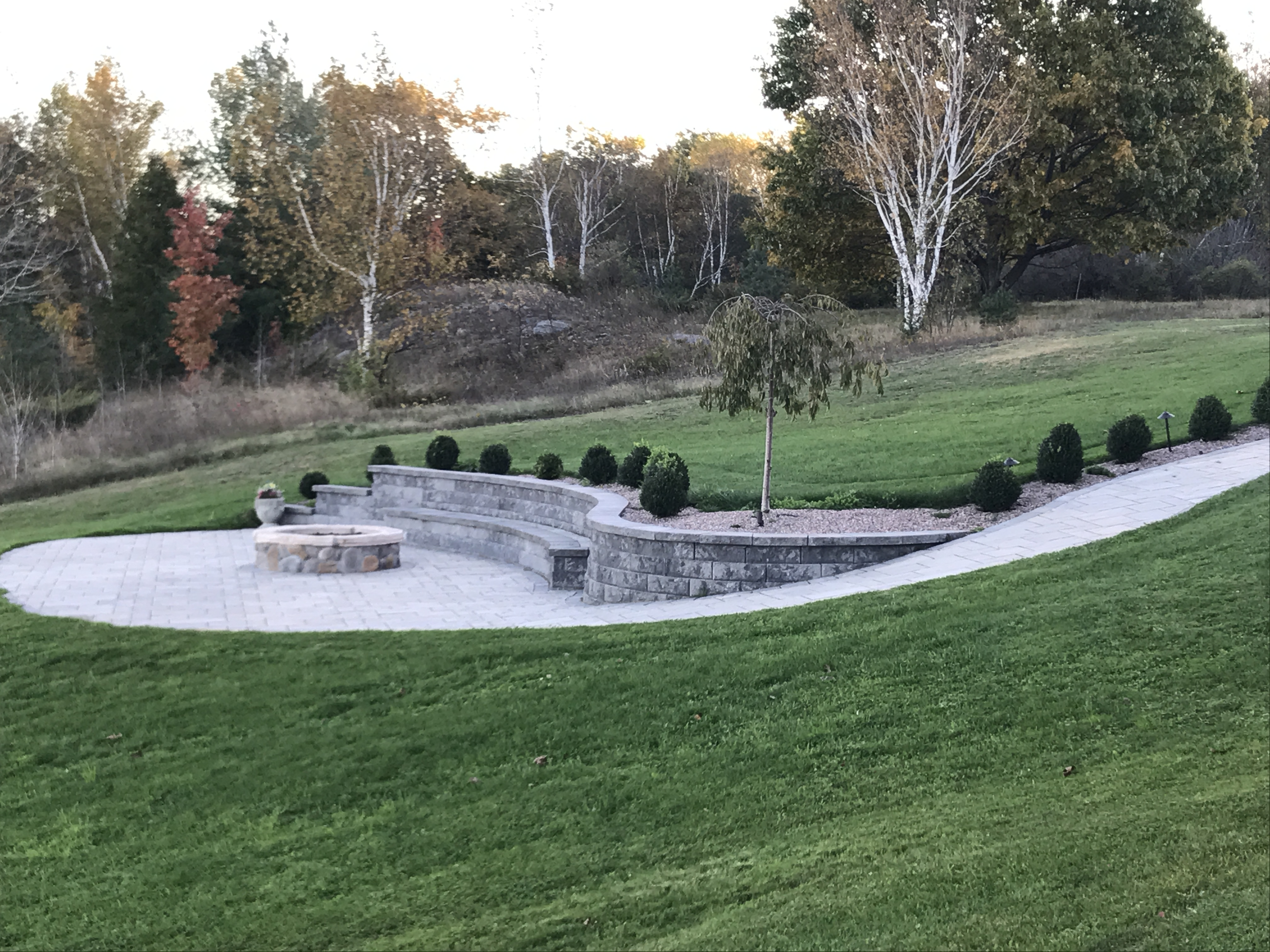 Retaining Walls and Bench