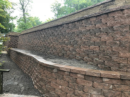 Three Tiered Retaining Wall System