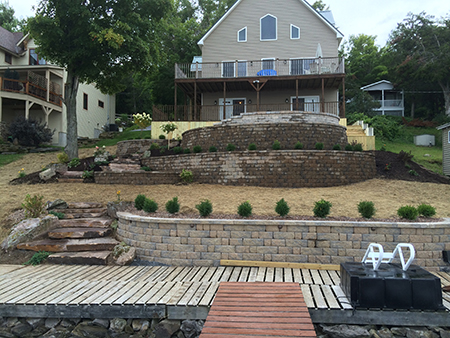 Retaining Wall & Terraces