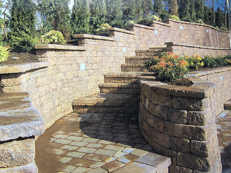 Retaining Wall & Stairs